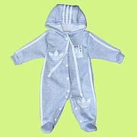 Адидас человечек для малыша аidass костюм адидас Тёплый мальчик серый