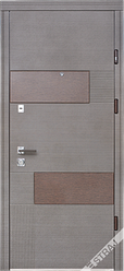 Входная дверь Страж standart Стиль вулкано венге серый горизонтальный