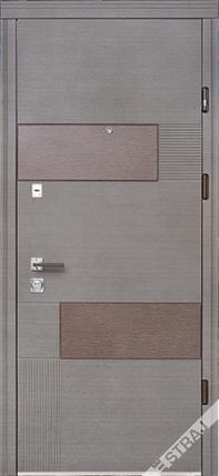 Входная дверь Страж standart Стиль вулкано венге серый горизонтальный, фото 2
