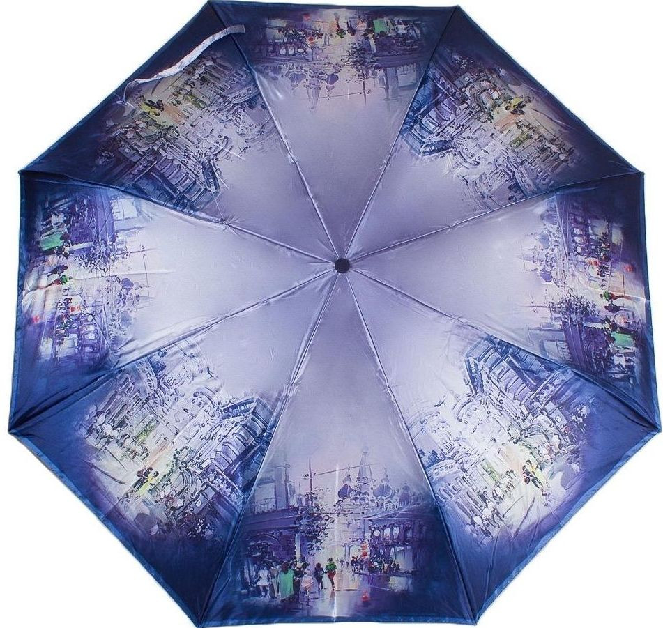 Женский зонт с восхитительным принтом, автомат Zest (Зест), Z23744-1, Антиветер