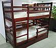 Кровать двухъярусная трансформер Стандарт с ящиками и бортиками массив, фото 4