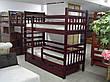 Кровать двухъярусная трансформер Стандарт с ящиками и бортиками массив, фото 5