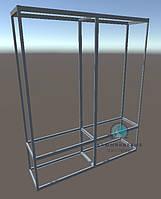 Комплект алюминиевых профилей и фурнитуры для сборки двухсекционной витрины. Модель-26
