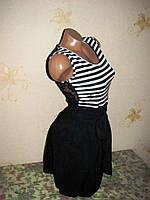 Легкое платье, спинка- гипюр 44 размер