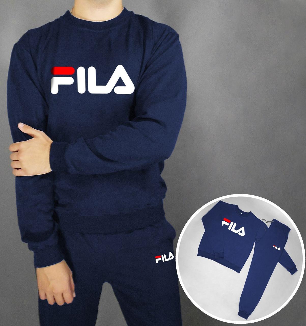 Спортивный костюм FILA темно-синий топ реплика