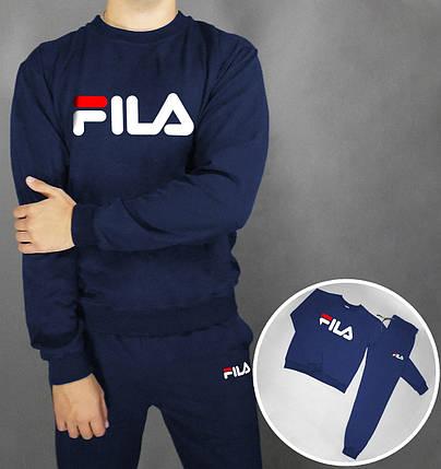 Спортивный костюм FILA темно-синий топ реплика, фото 2