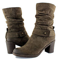 Ботинки польские женские на каблуке, натуральная кожа