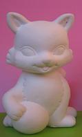 Гіпсова фігурка для розмальовки. Гипсовая фигурка для раскраски. Кіт з м'ячиком