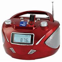 Бумбокс колонка часы MP3 Golon RX 669Q Red