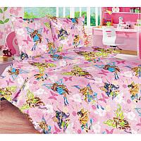 """Комплект постельного белья """"Волшебницы Винкс"""", в кроватку"""