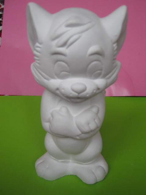 Гіпсова фігурка для розмальовки. Гипсовая фигурка для раскраски. Кіт Том 18 см
