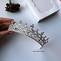 """Шикарная, большая диадема - корона """"Сильвия"""" для невесты."""