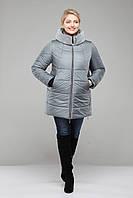 Куртка зимняя  больших размеров,М-346 лаванда-мутон