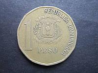 Монета 1 песо Доминикана 2000