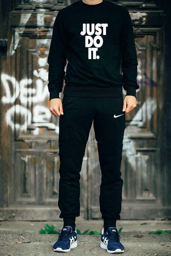 Мужской спортивный костюм Nike черный топ реплика