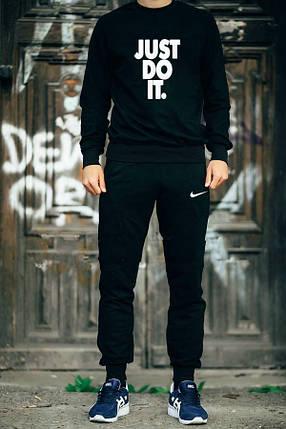 Мужской спортивный костюм Nike черный топ реплика, фото 2