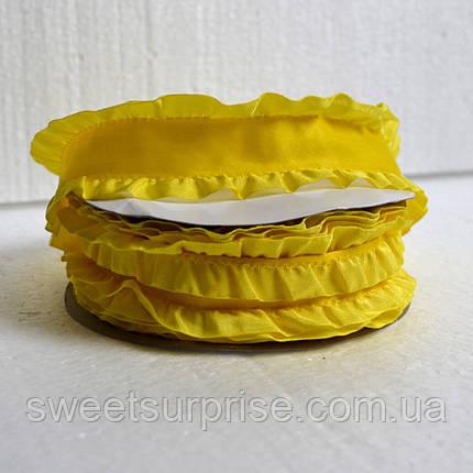 Лента декоративная с рюшей  40 мм (желтый), фото 2
