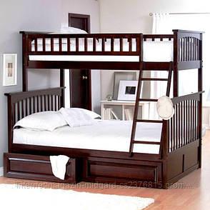 """Трансформер Двухярусная трехспальная кровать семейного типа """"Жасмин """"с ящиками и бортиками, фото 2"""