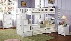 """Двухъярусная кровать семейного типа """"Простоквашино """"с ящиками ступеньками и бортиками, фото 2"""