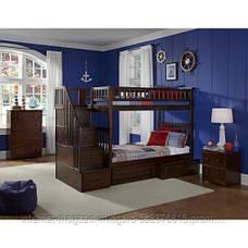 """Двухъярусная кровать семейного типа """"Простоквашино """"с ящиками ступеньками и бортиками, фото 3"""
