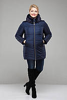 Куртка зимняя  больших размеров,М-346 синяя -мутон