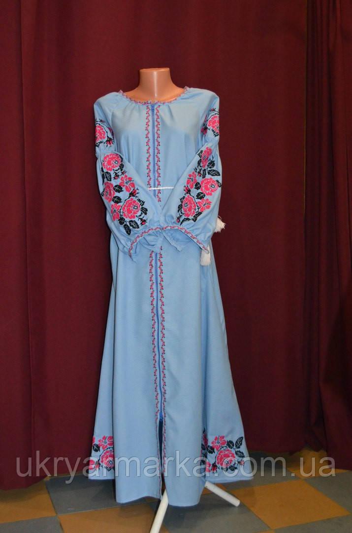 """Сукня з вишивкою """"Пенелопа"""" блакитна"""
