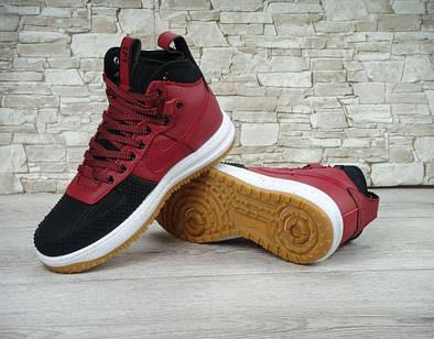 "Кроссовки Nike Lunar Force 1 Duckboot ""Black/Team Red"
