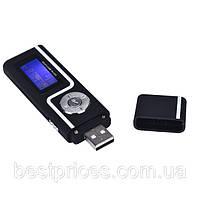 Mp3 player плеер на карту памяти Micro SD черный с полоской