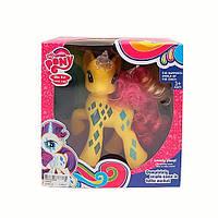 Лошадка LM2034 LP, My little pony, свет, расческа, 18 см, микс цветов, на батарейке, в коробке 22*22*8,5 см