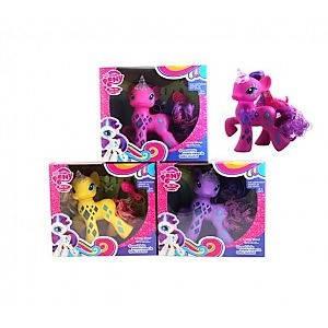 Лошадка LM2034 LP, My little pony, свет, расческа, 18 см, микс цветов, на батарейке, в коробке 22*22*8,5 см, фото 2