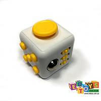 Фиджет Куб Fidget-Cube (антистресс) белый/желтый