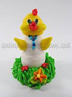 Сахарное украшение цыпленок петушок