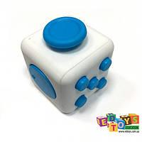 Фиджет Куб Fidget-Cube (антистресс) белый/голубой