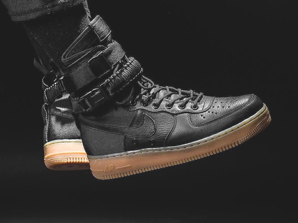 Мужские кроссовки Nike Special Field SF Air Force 1 Black