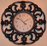 Интерьерные настенные часы имитация металла (46х46х5 см.)