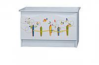 Ящик для игрушек «Цветы жизни» белый