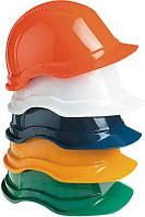 Каска рабочая оранжевая и белая