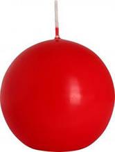 Свічка декортивна куля BISPOL червона 8 см