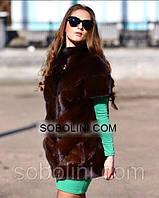 """Шикарный жилет из меха норки аукционной Brown Копенгаген  """"Martha"""", 44,46 размеры в  наличии"""