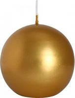 Свеча декортивная шар BISPOL золотая 8 см