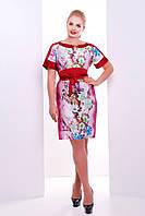 Женское Стильное платье  Хана красная (50-56)