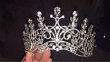 Корона, диадема, тиара, высота 9 см., фото 7