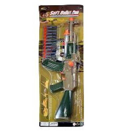Автомат 558-30, пули на присосках 10штук в комплекте, мишень, штык-нож, на планшетке, подарок малышу для игры , фото 2