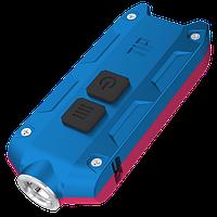 Фонарь Nitecore TIP Winter Edition (Cree XP-G2, 360 люмен, 4 режима, USB), красный/синий, фото 1