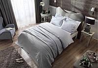 Комплект белья с покрывалом и полотенцами Tac Avon gri