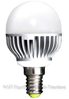 Лампа светодиодная e.save.LED.G45M.E14.5.2700 тип шар, 5Вт, 2700К, Е14 (ал)