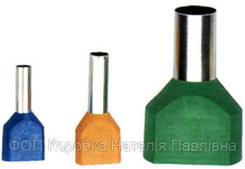 Изолированный наконечник e.terminal.stand.te.2.2.5.grey (TE2513 grey) 2x2,5  кв.мм, серый