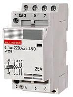 Модульный контактор e.mc.220.4.25.4NO, 4р, 25А, 4NO, 220 В