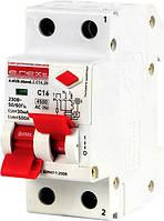 Выключатель дифференциального тока (дифавтомат) e.elcb.stand.2.C16.30, 2р, 16А, C, 30мА с разделенной рукоятко