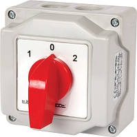 Пакетный переключатель LK25/2.211-ОВ/45 в корпусе, 2p, 0-1, 25А, IP44